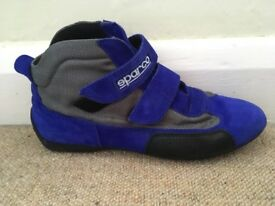 Blue Velcro Stivaletti Vogue Sparco Racing / Karting Boots EU 39 / UK 6