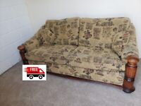 3 seater fabric sofa (free delivery)