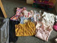 Large girls age 3-4 clothing bundle 38 items