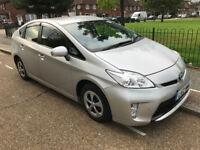 toyota prius hybrid 2012 silver 5 doors petrol pco ready