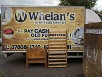 Pine wood single bed frame £65