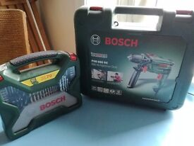 New Bosch Hammer Drill & Bits with case