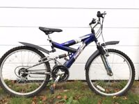 Child's mountain bike front and rear suspension VGC £60