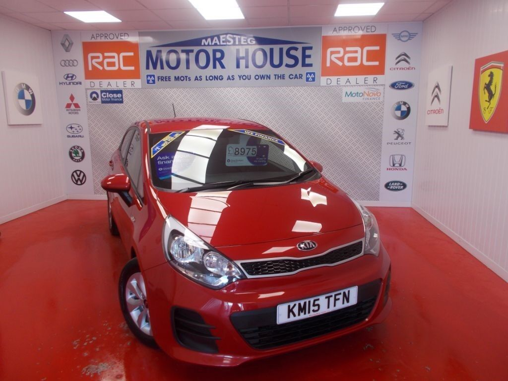 Kia Rio SR7(KIA WARRANTY UNTIL 2022)FREE MOT'S AS LONG AS YOU OWN THE  CAR!!! (red) 2015