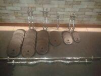 Standard weight plates + bars
