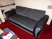 FOR SALE - TWO AND THREE SEATER SETTEES WITH MATCHING FOOTSTOOL FROM DFS.