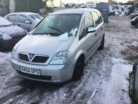 2004 VAUXHALL MERIVA 5 DOIR HATCH LOVEKY DRIVER LONG MOT IDEAL CHEAP RUNABOUT ANY TRIAL WELCOME