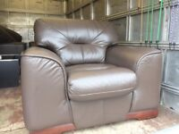 Chocolate leather suite ( very nice )