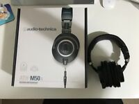 Audio-Technica ATH-M50x Professional Monitor Headphones - Immaculate Condition, Hardly Used!