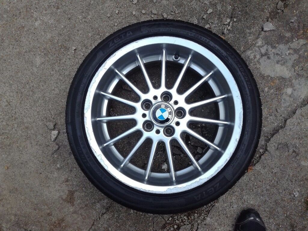"BMW 5,7 series e38, e39 genuine 18"" alloy front with tyre 1091991"