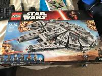 Lego Star Wars millennium falcon BNIB £100