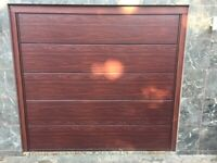 Garador electric garage door with frame and motor