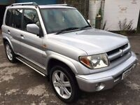 Mitsubishi Shogun Pinin GDi 2.0, 4 Wheel Drive, 2005/05 Reg, BRAND NEW MOT, 5 Door Estate, Silver