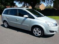 2009 '09' Vauxhall Zafira 1.6 Exclusive Genuine 55k Mot April 17 7 Seater galaxy sedona previa