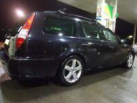 56 reg black 6 speed ford mondeo diesel estate +12 months mot+tax+heavy duty roofrack+FREE DELIVERY