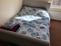 Nearly new Bed Frame and Memory Foam mattress for sale