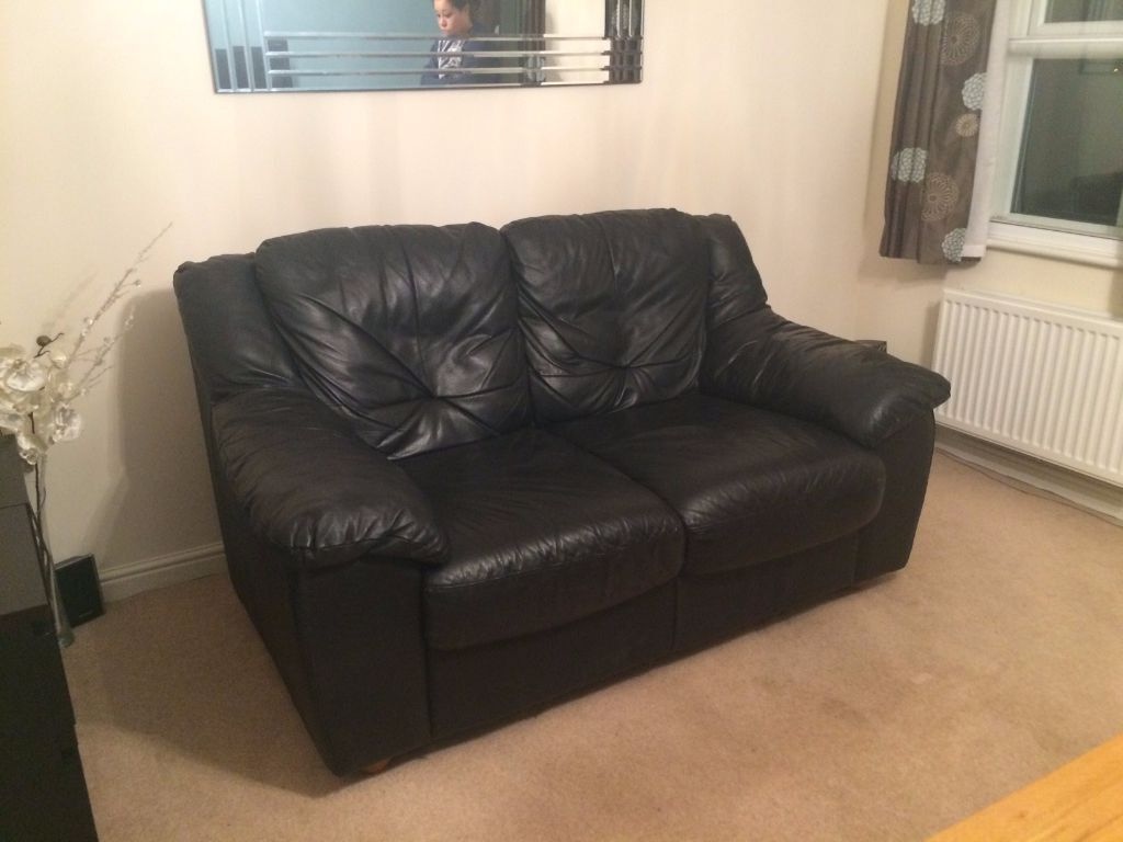 seater black leather sofa in wokingham berkshire gumtree