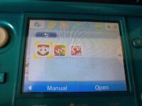 Nintendo 3DS Aqua Blue, 1 YEAR WARRANTY + Pokemon and Super Mario