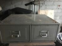 Reclaimed Industrial 2 Drawer Storage Cabinet ring malc