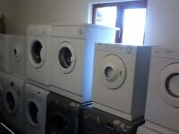 for sale washing machines from £80 also tumble dryers from £55 all with a g.tee A&S