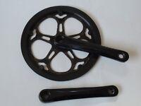 Crank Set 52 teeth, 170mm cranks. Ex folding bike