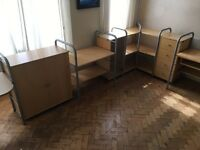 Ikea modular furniture - cupboards, drawer units, shelves and desks