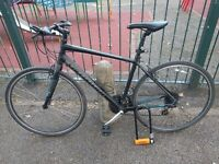 Black Specialized 24 Speed Road Bike with caliper brakes. Free D-Lock included.