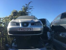 SEAT IBIZA S 2002 Grey FOR PARTS ONLY