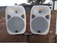 Wharfedale Titan 12 Active PA speakers Monitors White Pair