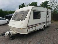 Elddis hurracaine gtx 2 berth touring caravan end bathroom