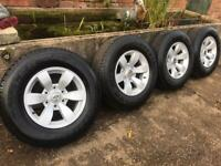 Ford ranger alloy wheels and tyres x4