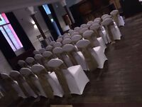 Chair covers 50 p hire bows all colours 50 p set up free weddings birthdays christning said ect