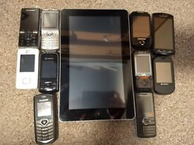 selection of old mobiles - spare -repair