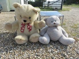 TWO SOFT LARGE TEDDY BEARS WITH TAGS & LABELS