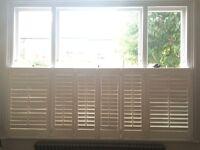 Window Shutters - 6 Panels & Frame - Large - White - Craftwood