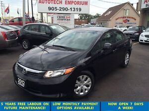 2012 Honda Civic All Power/Bluetooth/One Owner&ABS