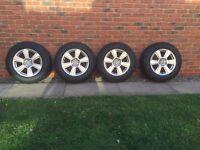 "Audi Q5 Genuine 17"" Alloy Wheels with tyres x4"