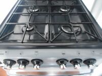 """""""stoves"""" double all gas cooker..silver/black."""