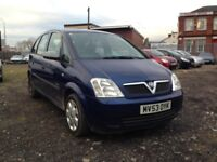 2003 VAUXHALL MERIVA 1.8 PETROL , , EXCELLENT RUNNER , , CHEAP CAR