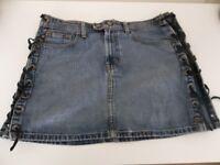 Ralph Lauren Rocker Mini Denim Skirt - UK Size 10 - (US Size 6)