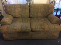 Marks and Spencer 2 seater sofa - Green/ Gold Floral pattern