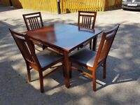 Dark Brown Extending Table & 4 Chairs FREE DELIVERY 968
