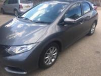 2013 62 Honda civic ex 2.2 d-tec 5 dr .(DIESEL £20 TAX)