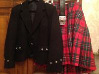 Kilt with jacket and belt