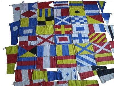 MARITIME Signal Code FLAG Set - 100% COTTON - Set of Total 50 flags