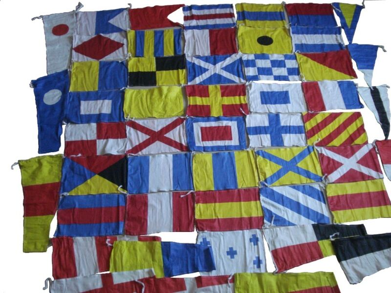 NAVY Signal Code FLAG Set – 100% Cotton - Set of Total 50 flags