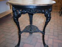 Old Cast Iron Table