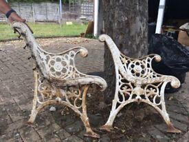 Cast Iron Victorian Bench Ends - Upcycling Project