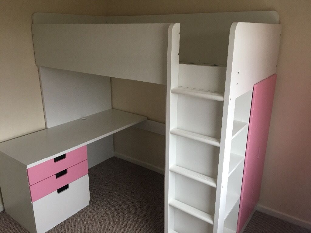 ikea stuva loft bed with desk draws wardrobe shelves in newcastle tyne and wear gumtree. Black Bedroom Furniture Sets. Home Design Ideas