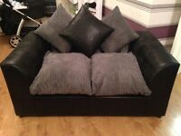 3+2 Seater Sofas. Black and grey